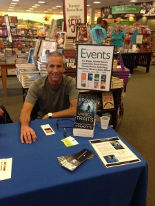 Patrick at a book signing for his first book, Varied Traits, at Barnes & Noble in Norcross, GA!